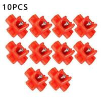 10pcs Horizontal Side Mount Chicken Waterer Poultry Drinker Automatic A0H7