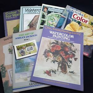 Vintage art books lot 7 How to Paint watercolor instruction painting pictures