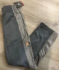 Nike Air Jordan Boys YLG Gray/Orange Therma-Fit Elephant Print Pants Large