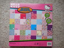 NEW Hello Kitty Mega Scrapbook paper Pad 120 sheets 40 Designs!