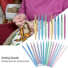 26PC Interchangeable Aluminum Circular Knitting Needle Sets 2.75mm-10mm Tool Set