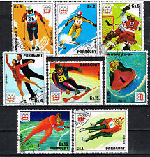 Paraguay Sport Insbruck Winter Olympics set with airmail stamps 1974