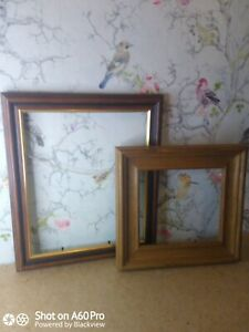 x2 Vintage/Contemporary Wooden Picture Frames