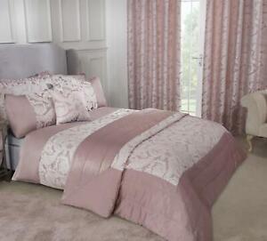 Duchess Blush Pink Luxury Jacquard Bedding