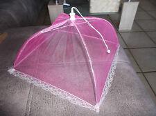 Fliegenhaube Insektenhaube 30cm x 30cm pink  Kostenloser Versand
