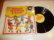 CHILDREN'S PARTY SONGS & GAMES - 1973 UK 14-track compilation LP