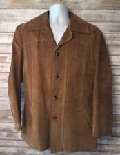 Ericson Of Sweden Mens Brown Button Front Jacket 23 Inch Pit
