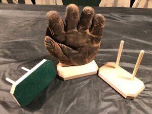 Vintage Antique Baseball Glove Displays Made Of Maple