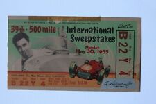 Used 1955 Indianapolis 500 / Indy 500 Race day ticket, Vukovich killed.