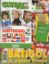 GUERIN SPORTIVO=N°50 1995=GUIDA AL SORTEGGIO EURO 96=STEAUA BUCAREST - JUVE 0-0