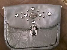Harley Davidson Motor Cycles Silver Purse With Clear Accents