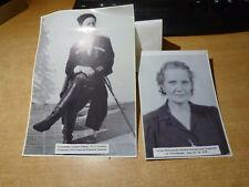 Pair Of Russian Photos Kuban Cossack General Getmanov & His Wife