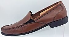 Bostonian Loafer Slip on Brown Leather Moc Toe Casual Men's Shoes 11.5 M