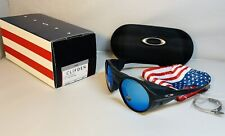 New Oakley Clifden Sunglasses 4th Of July Limited Usa Flag Black - Sapphire Lens
