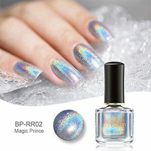 BORN PRETTY Holographic Nail Polish Holographic Silver Mirror Effect Nail