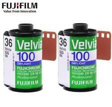2 Rolls FUJI FUJICHROME Velvia 100 RVP 36exp 135 35mm Color Reversal Slide Film