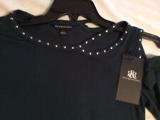Rock Republic Metallic Garden Pine Teal Cutout Top Shirt Women X-Small XS $48