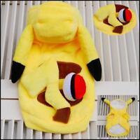 Pikachu Pokemon Dog Costume Hoodie