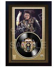 Michael Jackson Dangerous MUSIC  SIGNED FRAMED PHOTO LP Vinyl