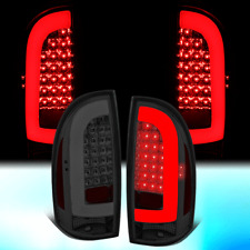 FOR 2005-2015 TOYOTA TACOMA PAIR 3D LED STRIP TAIL LIGHT REAR BRAKE LAMPS SMOKED