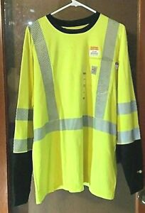 NWT Carhartt FLAME-RESISTANT High Visibility Force Hybrid Light weight Med TALL
