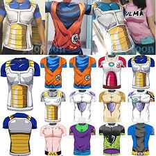 DRAGON BALL Camisa GOKU fitness camiseta manga corta vegeta bulma PAREJA SET