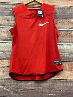 Nike Vapor Speed Sleeveless Football Shirt Red Men's Size 3XL #835345-657