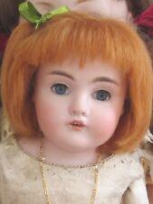 """perruque vrai Mohair rousse poupée ancienne-tête18/19cm-Mohair doll wig Sz7/8"""""""