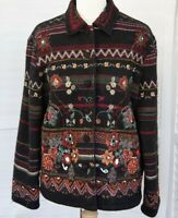 Beautiful *DASH* Colourful Boiled Wool Embroidered Beaded Jacket 14