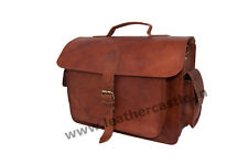 Leather DSLR Camera Messenger Bag Handbag Crossbody Sony Canon Nikon SLR Bags