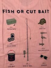 NEW Southern Proper Men Pink Pocket T-Shirt Fish or Cut Bait Size Small See Pics