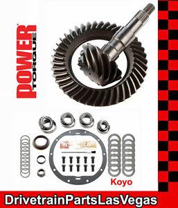"Power Torque GM 8.5"" 8.6"" 4.56 Ring Pinion Gear Set Koyo Master Kit 2000 to 2008"