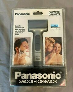 Panasonic ES 876 SC Smooth Operator Wet/Dry Rechargeable Shaver Silver NEW