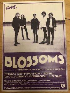 Blossoms / Viola Beach  - Rare gig poster, Liverpool - March 2016