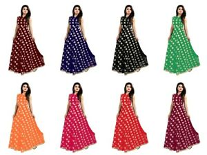 Women's Modal Chanderi Casual Wear Indian Designer Ready Made Gown KZPU1-1