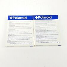 (2) Polaroid Type 600 Instant Film Vintage Cartridge 10 Picture Best By 10/04