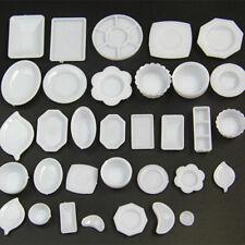 33Pcs set Dollhouse Miniature Dish DIY Tableware Kitchen Mini Food Plates Toy