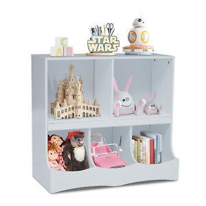 Kids Playroom Storage Cabinet Children Toy Box Organizer Rack Bookcase Shelf