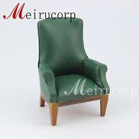 Fine 1:12 scale dollhouse miniature furniture Green wooden sofa seat
