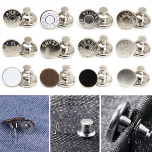 5Pcs Metal Jeans Tack Instant Buttons Replacement Kit Repair For Sewing Pants