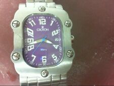 "CROTON Gent's Wristwatch CN307401 Purple Rectangle Face fits 9"" Wris (CJL012011)"