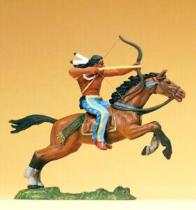 """Preiser 54654 Maßstab 1:25 Figur """"Indianer reitend, mit Bogen"""" #NEU in OVP#"""