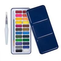 24 Colors Solid Watercolor Cakes Paints Set Drawing Paint