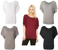 Bella Women's Flowy Draped Sleeve Dolman Tee