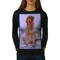 Wellcoda Labrador Photo Dog Womens Long Sleeve T-shirt, Retriever Casual Design