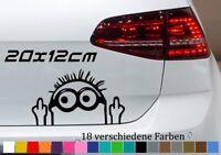 Minion Mittelfinger 20x12cm Aufkleber Shocker Auto Deko Car Tuning JDM Sticker