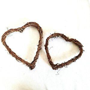 Natural Vine Wreath Heart Garland Rattan 20 cm & 25cm