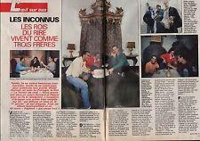 Coupure de presse Clipping 1992 Les Inconnus les rois du rire (4 pages)