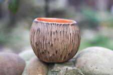Handmade Rustic Round Succulent planter Ceramic pot for cactus plants Art