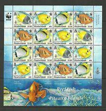 PITCAIRN ISLANDS- SG807A-810 REEF FISH SHEETLET   MNH